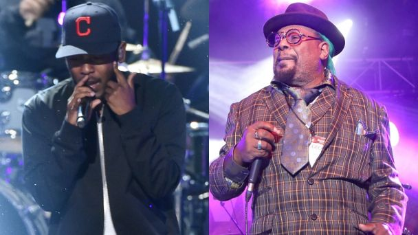 George Clinton passes the Funk torch to Kendrick Lamar