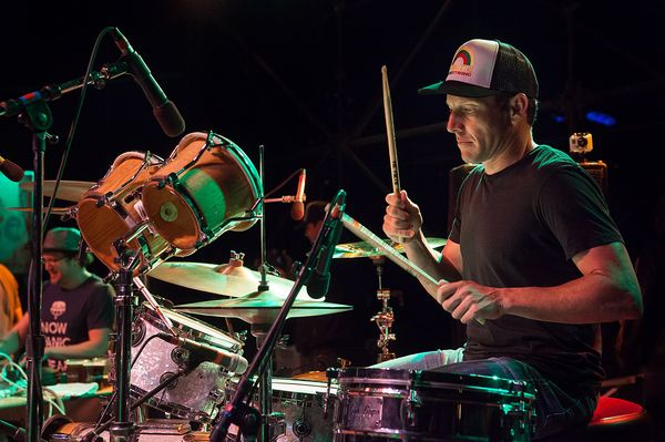 Lance Armstrong makes a surprise appearance sitting in on drums for Lance Herbstrong at the Austin Reggae Festival in 2013.