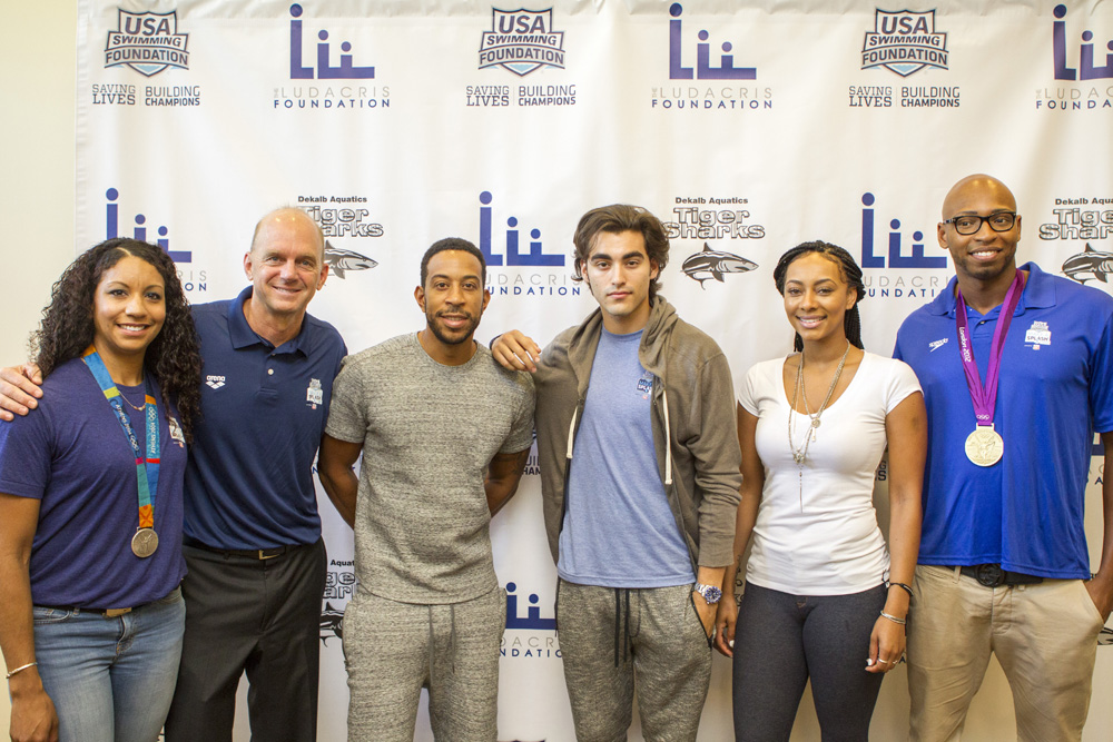 Rapper Ludacris and Olympians Prep Kids for Water Safety Month!