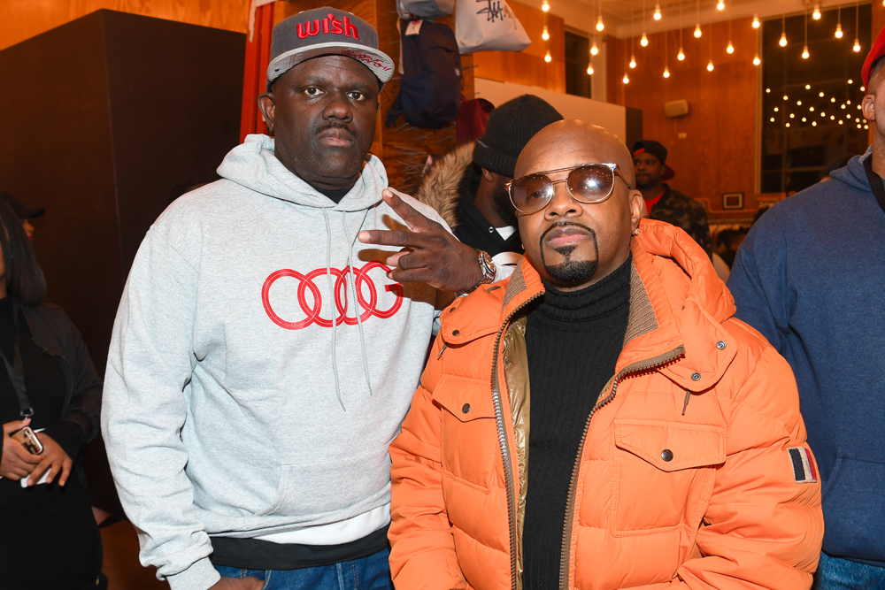 """ATLANTA, GA - JANUARY 07: Dj Greg Street and Jermaine Dupri attend Lifetime Presents, """"Rap Game"""" Season 3 Premiere Event at Wish Boutique on January 7, 2017 in Atlanta, Georgia. (Photo by Paras Griffin/Getty Images for Lifetime)"""