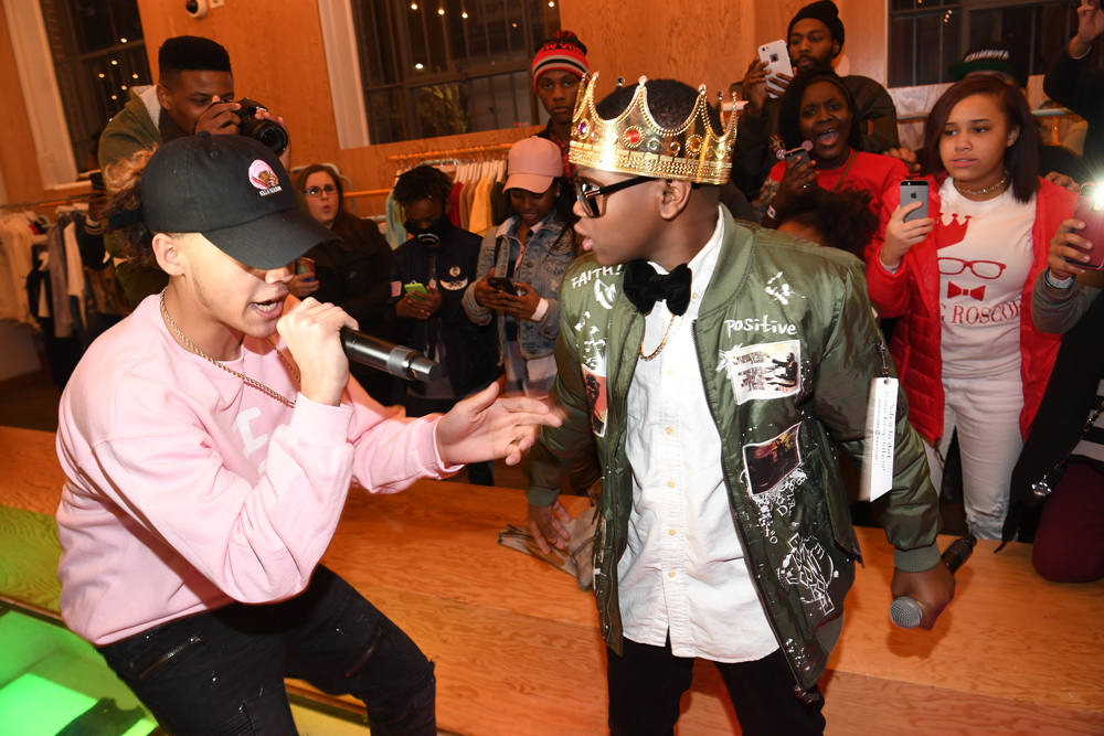 """ATLANTA, GA - JANUARY 07: Rapper Nova and King Roscoe preform at Lifetime Presents, """"Rap Game"""" Season 3 Premiere Event at Wish Boutique on January 7, 2017 in Atlanta, Georgia. (Photo by Paras Griffin/Getty Images for Lifetime)"""