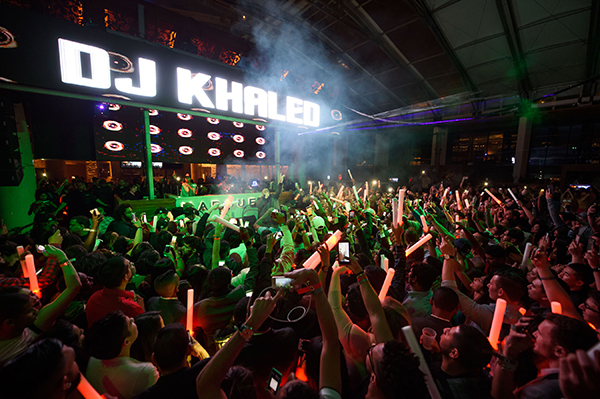 DJ Khaled on stage at the Marquee New Years Eve (Photo credit: Al Powers)