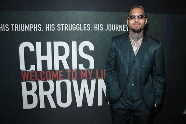 "Chris Brown attends the premiere of his film, Riveting Entertainment's ""Chris Brown: Welcome To My Life"" at L.A. LIVE (Photo by Jonathan Leibson 