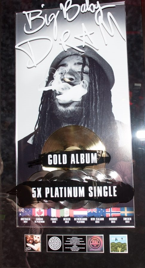 """DRAM was acknowledged for musical success with his debut self-titled album attaining Gold status and 5x Platinum single for song, """"Broccoli"""""""