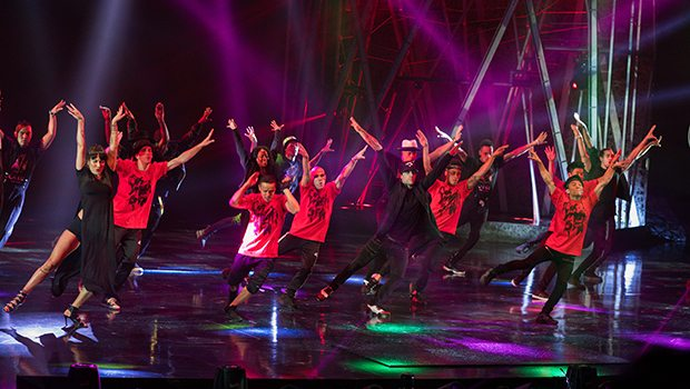 Michael Jackson ONE artists celebrate the King of Pop's birthday with one-time, never-before-seen performance, Aug. 29, 2017 (Photo Credit: Michael Jackson ONE by Cirque du Soleil)
