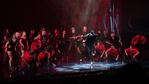 Michael Jackson ONE artists celebrate the King of Pop's birthday with one-time, never-before-seen performance Aug. 29, 2017 (Photo Credit: Michael Jackson ONE by Cirque du Soleil)