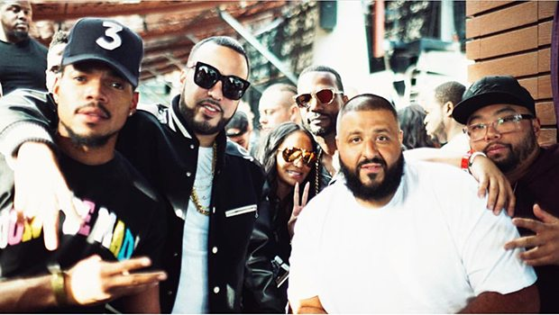Chance the Rapper, French Montana, Juicy J, DJ Khaled, DJ Franzen (Photo Credit Ivan Barrios)