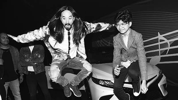 NEW YORK, NY - OCTOBER 16: Steve Aoki and Joey Alexander attend VH1 Save The Music 20th Anniversary Gala at SIR Stage37 on October 16, 2017 in New York City. (Photo by Nicholas Hunt/Getty Images for VH1 Save The Music )