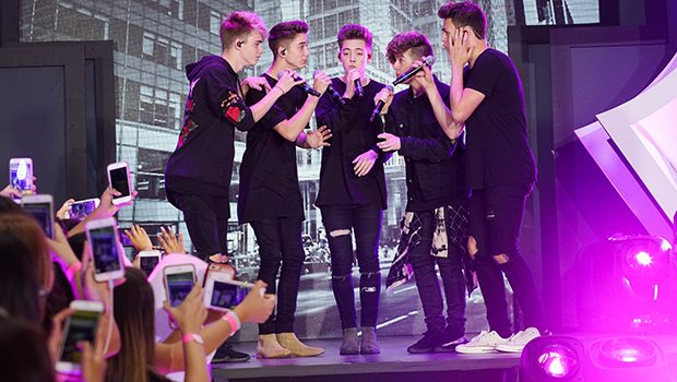 """Why Don't We Medley Of """"Something Different,"""" """"Invitation,"""" And """"These Girls"""" (Photo: Zach Dilgard/MTV)"""