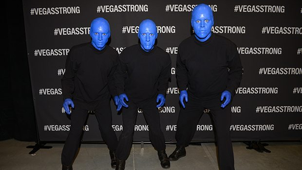 Blue Man Group at Vegas Strong Benefit Concert (Photo: Powers Imagery)