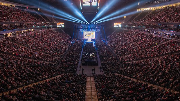 T-Mobile Arena During Vegas Strong Benefit Concert (Photos: Powers Imagery)