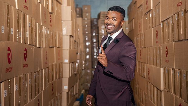 Ray J at Raycon Global Warehouse (Photo: Raycon Global)