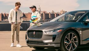 'Baby Driver' Star Ansel Elgort takes on the Jaguar smart cone challenge_with pro driver Davy Jones