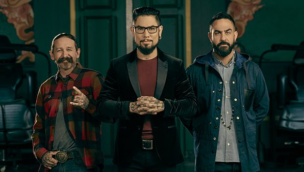 "Ink Master Judges: (c) Dave Navarro, (r) Chris Nunez (""Miami Ink"") and (l) Oliver Peck (Elm Street Tattoo) Photo: Paramount"