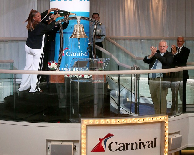 Queen Latifah becomes Godmother of Carnival Horizon (Photo: Amy Harris / Carnival)