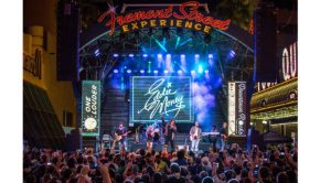 Eddie Money takes over Fremont Street Experience during Downtown Rocks, 7.21.18 (Photo Credit: Black Raven Films)