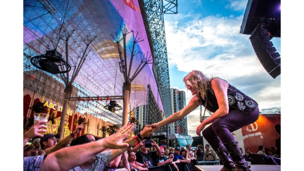 Jefferson Starship delivers rocking performance at Fremont Street Experience during Downtown Rocks, 7.21.18 (Photo Credit: Black Raven Films)