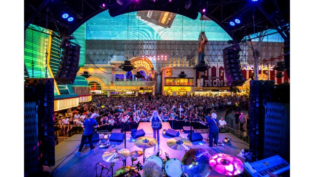 Jefferson Starship takes over Fremont Street Experience during Downtown Rocks, 7.21.18 (Photo Credit: Black Raven Films)