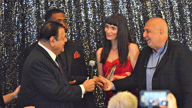 Lifetime Achievement Award presented to Paul Sorvino by Larry Namer and Claudia Graf