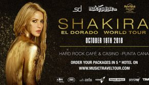 The Hype Magazine and MusicTravelTour present the exclusive live concert of SHAKIRA, October 18, 2018, in the Dominican Republic