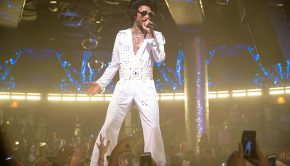Wiz Khalifa Dressed as Elvis Presley at Drai's Nightclub