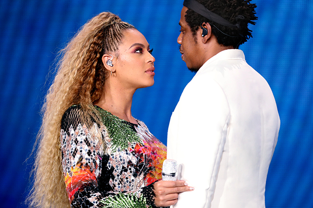 BUFFALO - AUGUST 18: Beyonce and Jay-Z perform on the 'On The Run II' tour at New Era Field on August 18, 2018 in Buffalo, New York. (Photo by Raven Varona/Parkwood/PictureGroup)