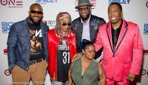 Cast of Rickey Smiley Morning Show copy [Photo: Marcus Ingram for TV One]