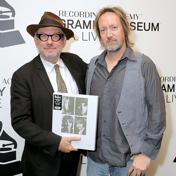 LOS ANGELES, CALIFORNIA - NOVEMBER 14: Marvin Etzioni and Brian Kehew attend The Record Theater: The White Album in Mono at the GRAMMY Museum on November 14, 2018 in Los Angeles, California. (Photo by Rebecca Sapp/WireImage for The Recording Academy )