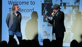 LOS ANGELES, CALIFORNIA - NOVEMBER 14: Brian Kehew and Marvin Etzioni speak onstage at The Record Theater: The White Album in Mono at the GRAMMY Museum on November 14, 2018 in Los Angeles, California. (Photo by Rebecca Sapp/WireImage for The Recording Academy )