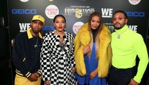"NEW YORK, NY - DECEMBER 04: (L - R) Growing up Hip Hop cast members Jojo Simmons, Angela Simmons, Vanessa Simmons, and Romeo Miller attend the ""Growing Up Hip Hop"" season 4 party on December 4, 2018 in New York City. (Photo by Bennett Raglin/Getty Images for WEtv)"