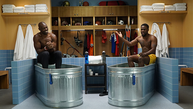 Kevin Hart and Terrell Owens (Photo: Laugh Out Loud Network)