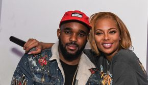 Eva Marcille and Headkrack [Photo Credit: Radio One Atlanta]