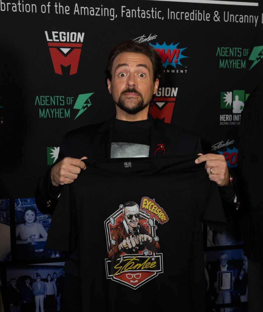 "Kevin Smith attends ""Excelsior! A Celebration of the Amazing, Fantastic, Incredible & Uncanny Life of Stan Lee (photo credit Bart Mastro)"