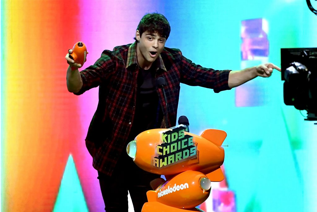 LOS ANGELES, CA - MARCH 23: Noah Centineo accepts the Favorite Movie Actor award for 'To All the Boys I've Loved Before' onstage at Nickelodeon's 2019 Kids' Choice Awards at Galen Center on March 23, 2019 in Los Angeles, California. (Photo by Kevin Winter/Getty Images)