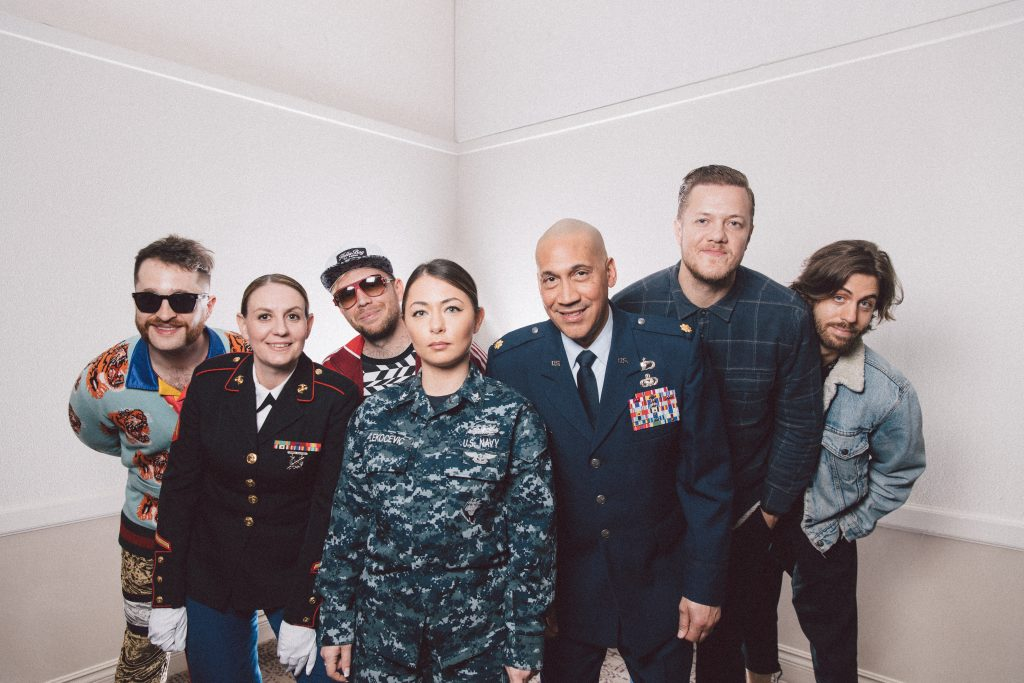 Imagine Dragons and veterans - credit Daniel N Johnson