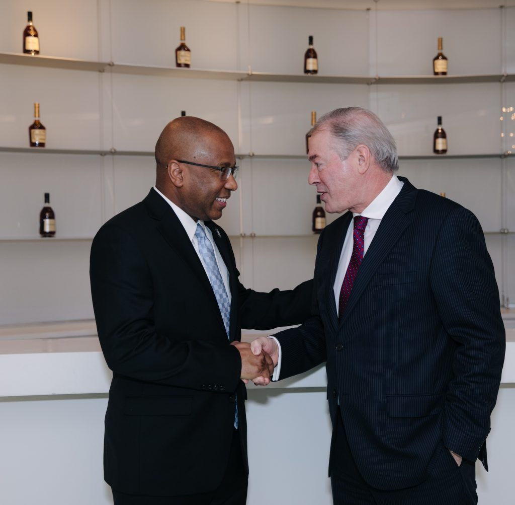 Dr. Harry L. Williams, the President and CEO of TMCF, and Jim Clerkin, the President and CEO of Moet Hennessy North America