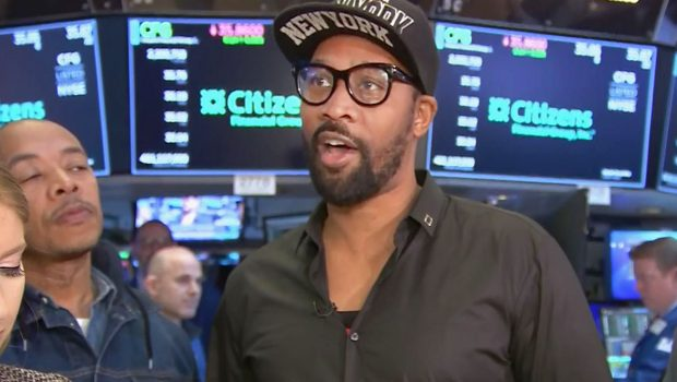 RZA at the New York Stock Exchange, April 26, 2019. (Photo: CNBC)