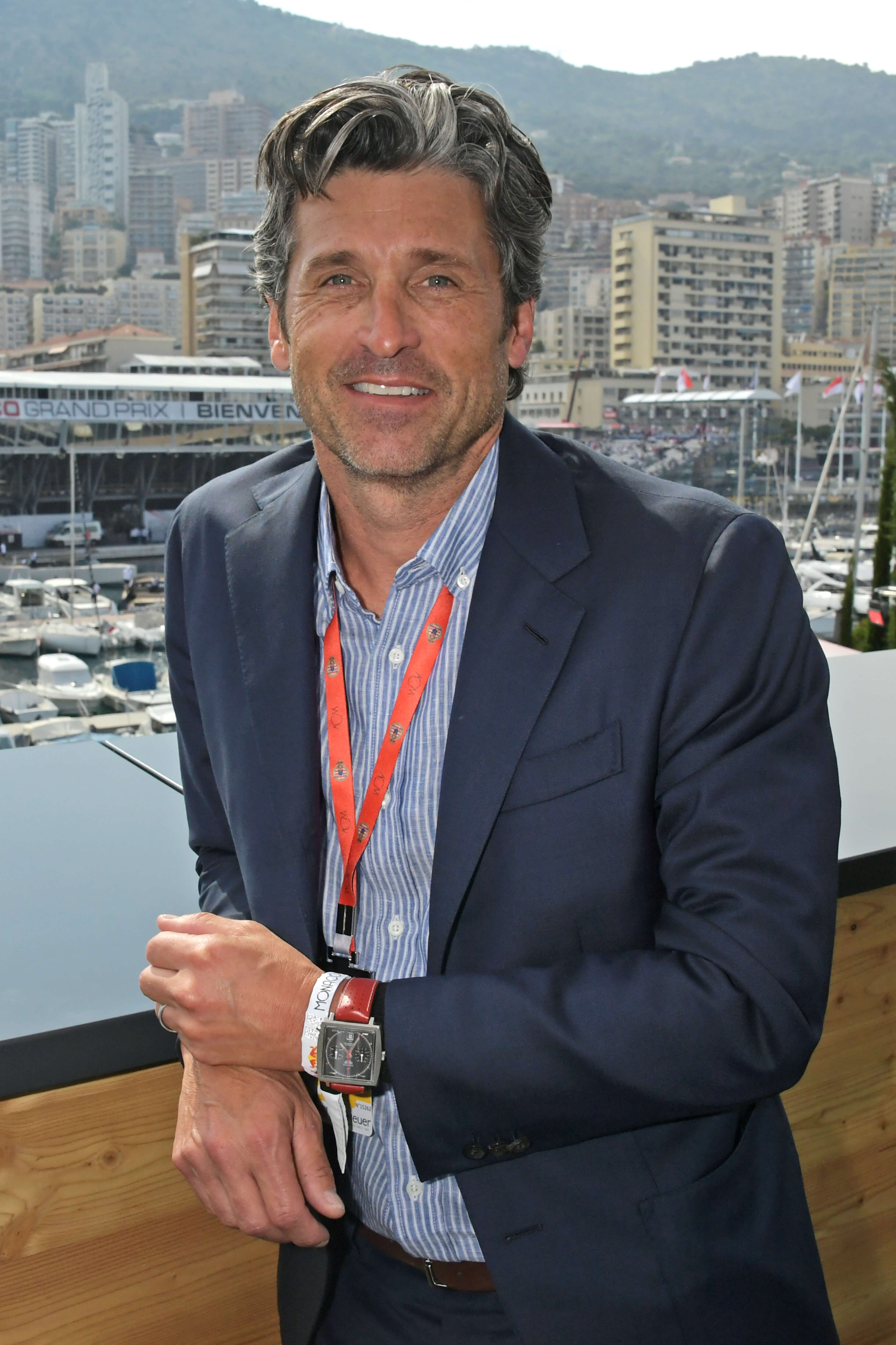 MONACO - MAY 26: Patrick Dempsey celebrates 50 Years of the Monaco Watch at the Formula 1 Grand Prix De Monaco, the legendary event that gave the watch its name in 1969, on May 26, 2019 in Monaco. (Photo by David M. Benett/Dave Benett/Getty Images for TAG Heuer)