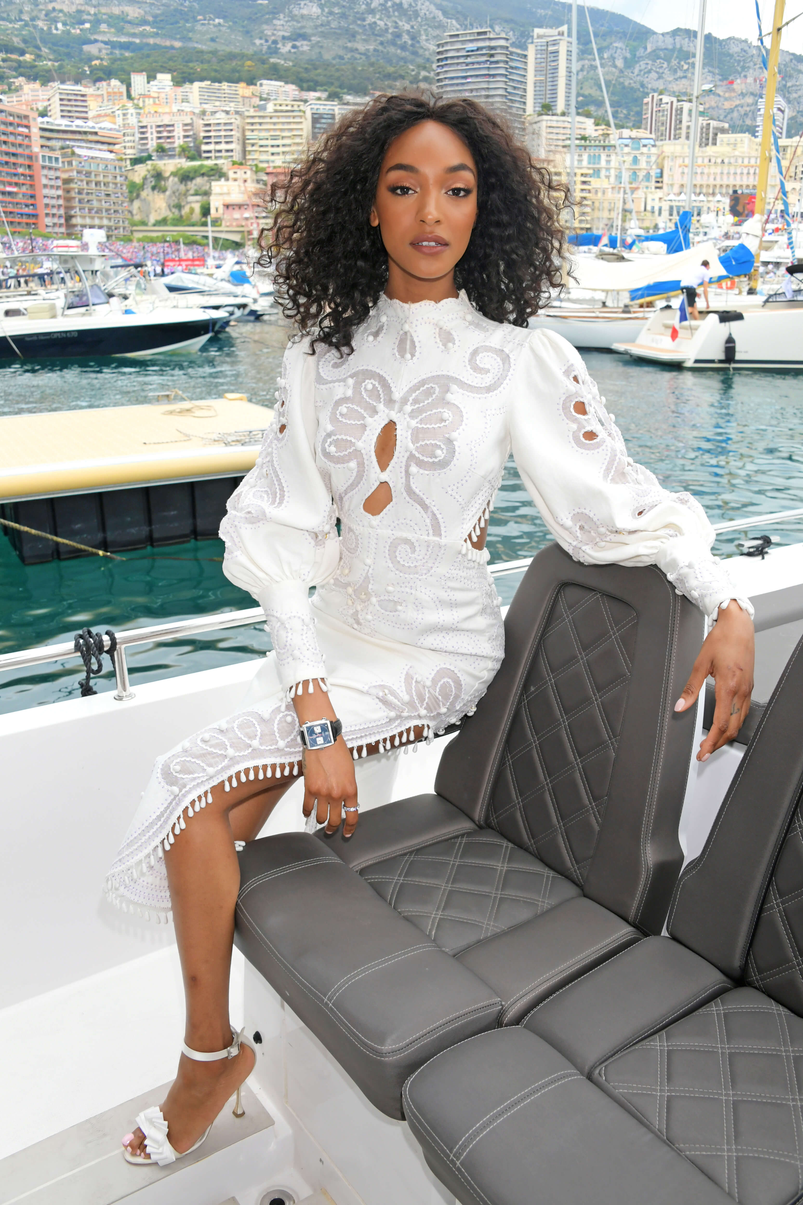 MONACO - MAY 26: Jourdan Dunn celebrates 50 Years of the Monaco Watch at the Formula 1 Grand Prix De Monaco, the legendary event that gave the watch its name in 1969, on May 26, 2019 in Monaco. (Photo by David M. Benett/Dave Benett/Getty Images for TAG Heuer)