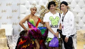 Blac Chyna poses at her Lashed booth at RuPaul's DragCon LA (photo credit: MOVI Inc)