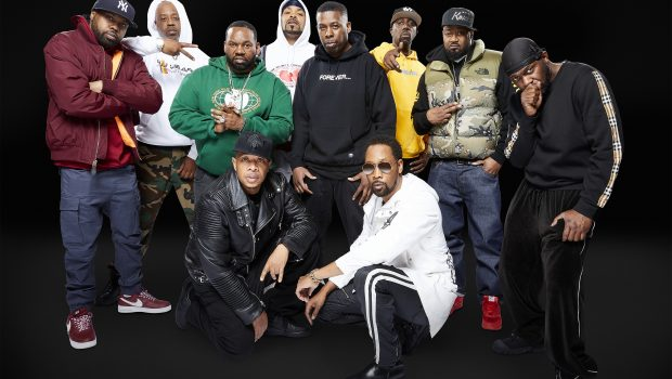 Photo representing WU-TANG CLAN: OF MICS AND MEN. Pictured: Rza , Meth , GZA, Raekwon, Inspectah Deck , U-god, Gfk, Masta Killa, Cappadonna and Mathematics. PHOTO: Kyle Christy/SHOWTIME