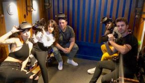 Camila Cabello, Manager Gian Mitchell, and family, friends at Dreamscape Immersive