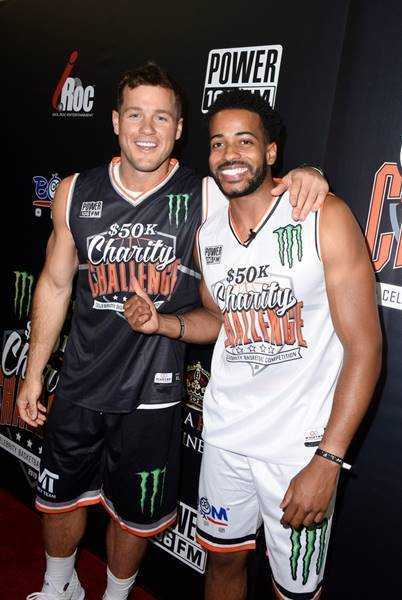Colton Underwood and Eric Bigger Attend the Monster Energy $50K Charity Challenge Celebrity Basketball Game