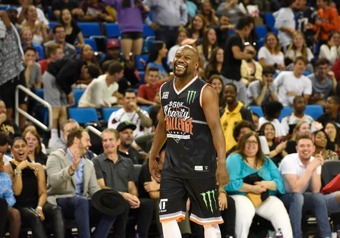 Floyd Mayweather Attends the Monster Energy $50K Charity Challenge Celebrity Basketball Game