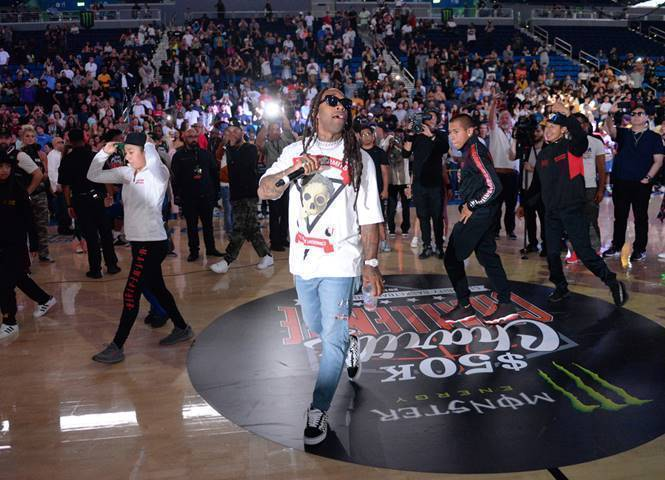 Ty Dolla $ign Performs at the Monster Energy $50K Charity Challenge Celebrity Basketball Game