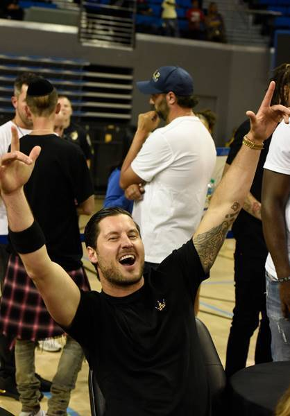 Valentin Chmerkovskiy Cheers on Wife, Jenna Johnson, at the Monster Energy $50K Charity Challenge Celebrity Basketball Game