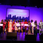 2019 Finding Ashley Stewart Scholarship winners with Sekou Kaalund, head of JPMorgan Chase & Co., Advancing Black Pathways and James Rhee, Chairman and CEO of Ashley Stewart
