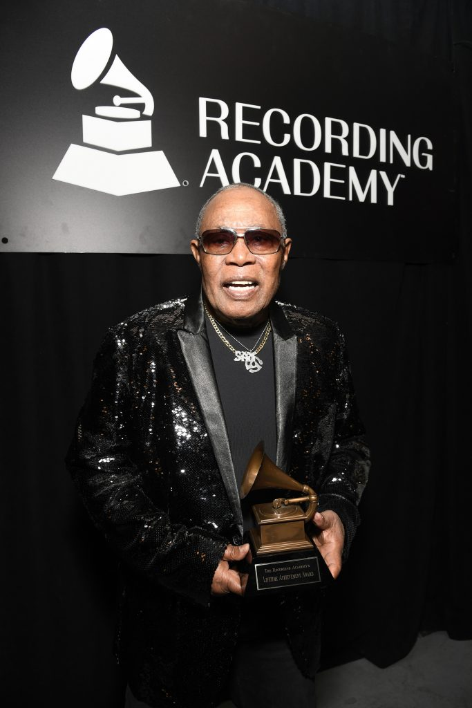 Sam Moore with GRAMMY Special Merit Lifetime Achievement Award