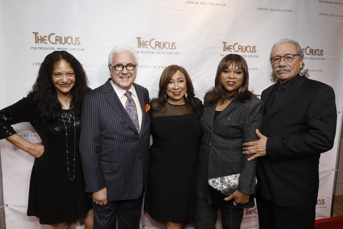 Dr. Edna Sims, Vin Di Bona; Honorary Event Chair, Tanya Hart; Caucus Co-Chair, Deniece Williams; Multi-Grammy Awards Winner and Edward James Olmos (Photo Credit: Steve Cohn Photography© 2019 Steve Cohn Photography(310) 277-2054www.stevecohnphotography.com)