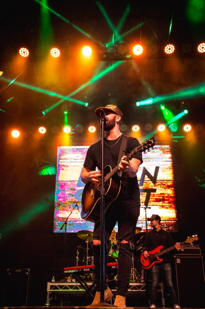 Dylan Scott take over 1st Street Stage during Downtown Hoedown at Fremont Street Experience, 12.4.19